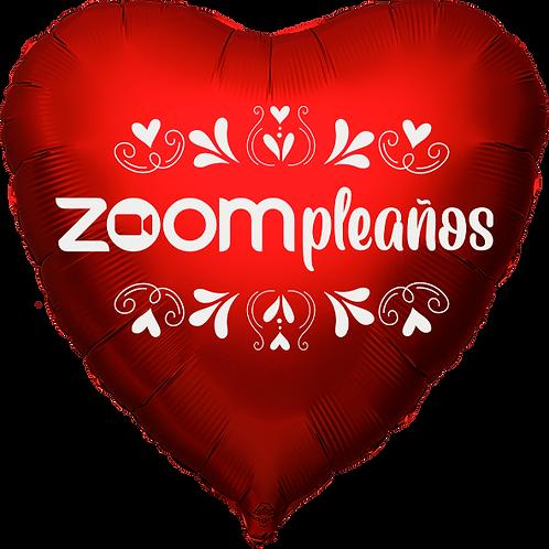 "Globo Corazón 18"" - Zoompleaños"