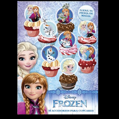 Accesorios para Cupcakes Frozen x16