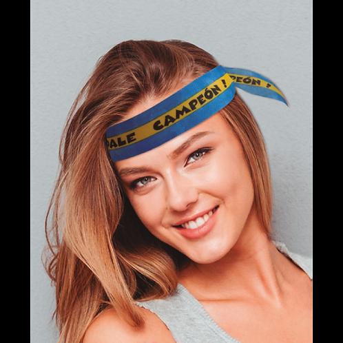 Vincha Fantasía Azul y Amarillo x50