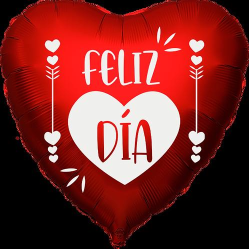 "Globo Corazón 18"" - Feliz Día Corazón"
