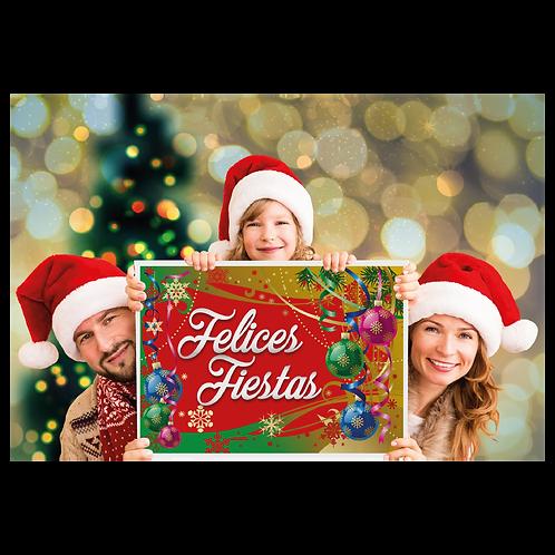 Cartel de Carton Felices Fiestas