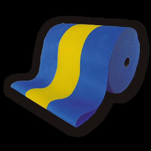 Tela de Bandera Azul y Amarillo 30cmx250 mts.