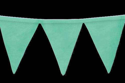 Banderín Liso Verde  Agua x5