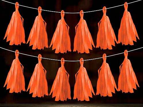 Guirnalda Porra Naranja Flúo