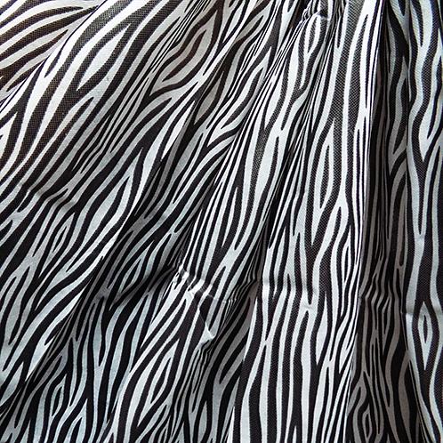 Tela Multiuso Blanco Animal Print Negro - 1,20 mts. X 5 mts.