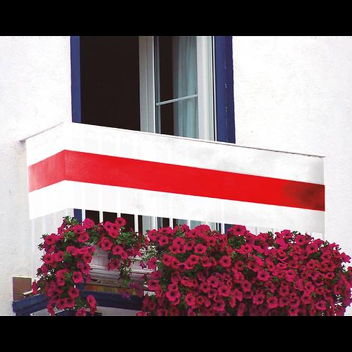 Bandera Balcon Blanco y Rojo