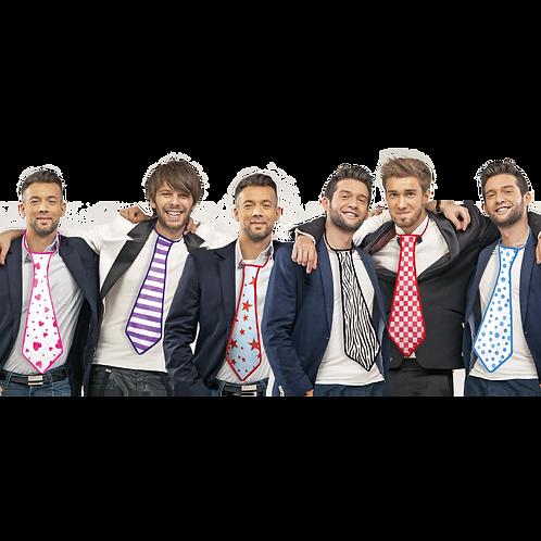 Corbatas Fantasía Surtidas x5