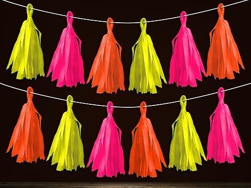Guirnalda Porra Flúo Multicolor