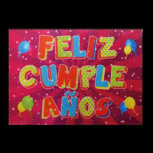 Cartel Feliz Cumpleaños