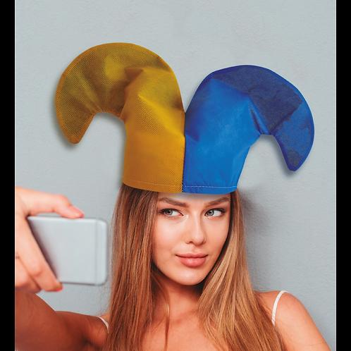 Gorro Dos Puntas Bicolor Azul y Amarillo x5