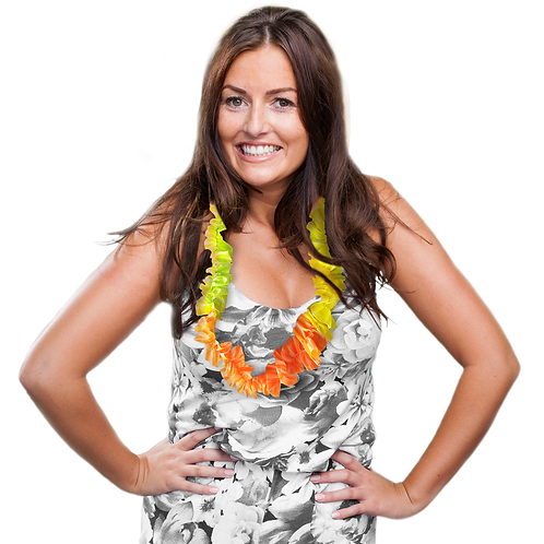 Collar Hawaiano Fluo x12
