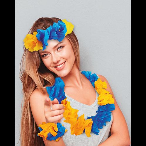 Combo Hawaiano Azul y Amarillo