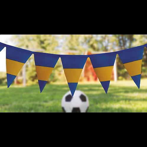 Banderin Estampado Azul y Amarillo x5