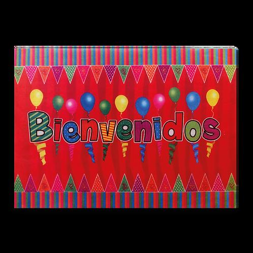 Cartel Bienvenidos Globitos y Banderines