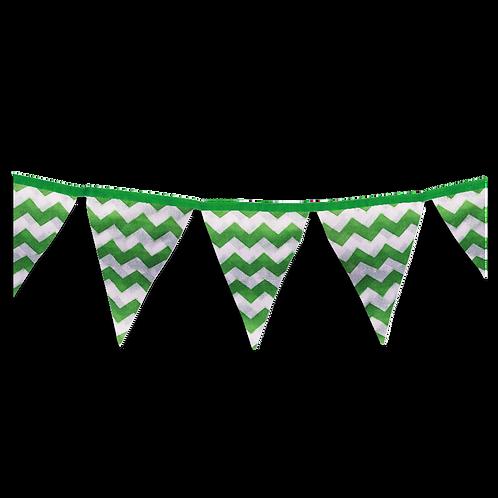 Banderin Zigzag Verde x5