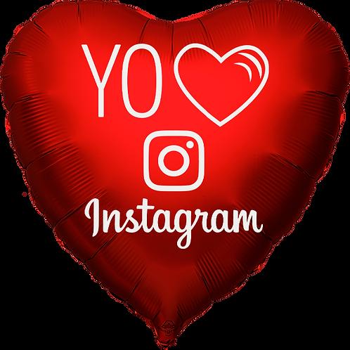 "Globo Corazón 18"" - Yo Amo Instagram"