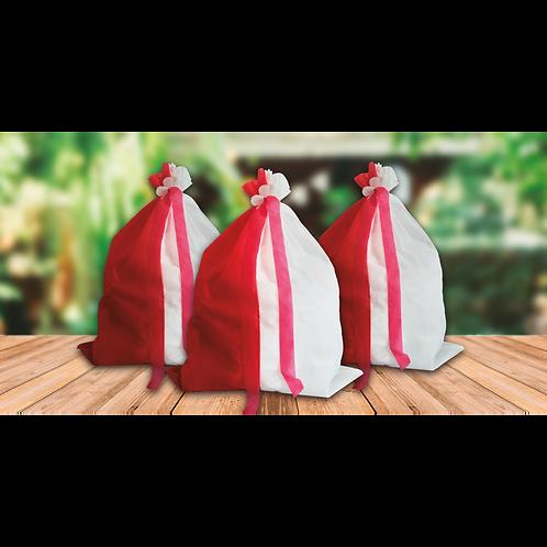 Bolsa Carioca Blanco y Rojo x5