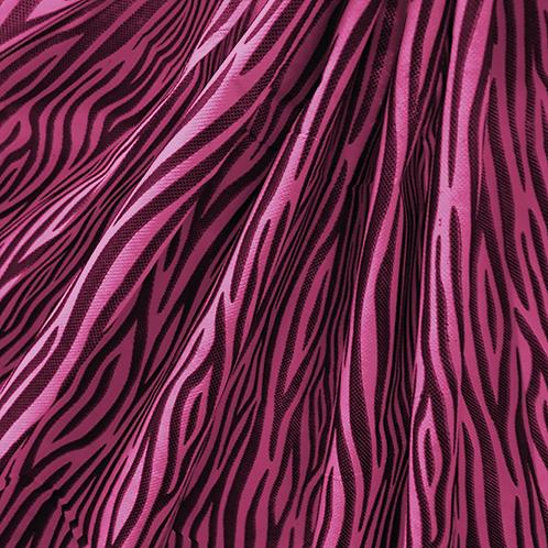 Tela Multiuso Fucsia Animal Print Negro - 1,20 mts. X 5 mts.