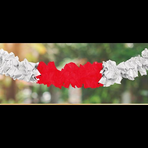 Guirnalda Hawaiana Rojo y Blanco 3 mts. x1
