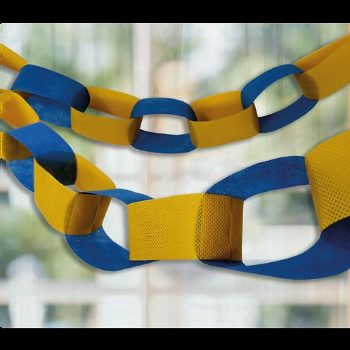 Guirnalda Cadena Azul y Amarillo