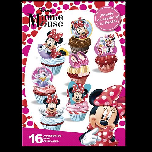 Accesorios para Cupcakes Minnie x16