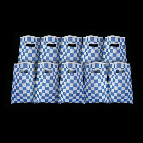 Bolsita Coti Cuadritos Azul x10