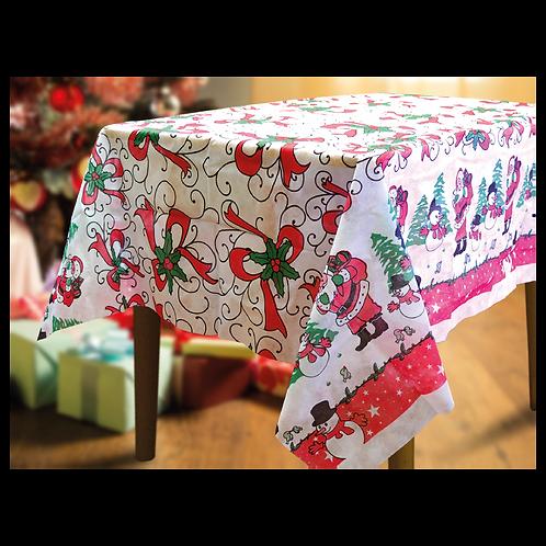 Mantel Navideño Papá Noel a Cuatro Colores 1,40 X 1,80