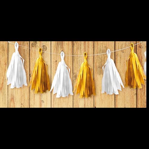 Guirnalda Porra Amarilla - Blanca