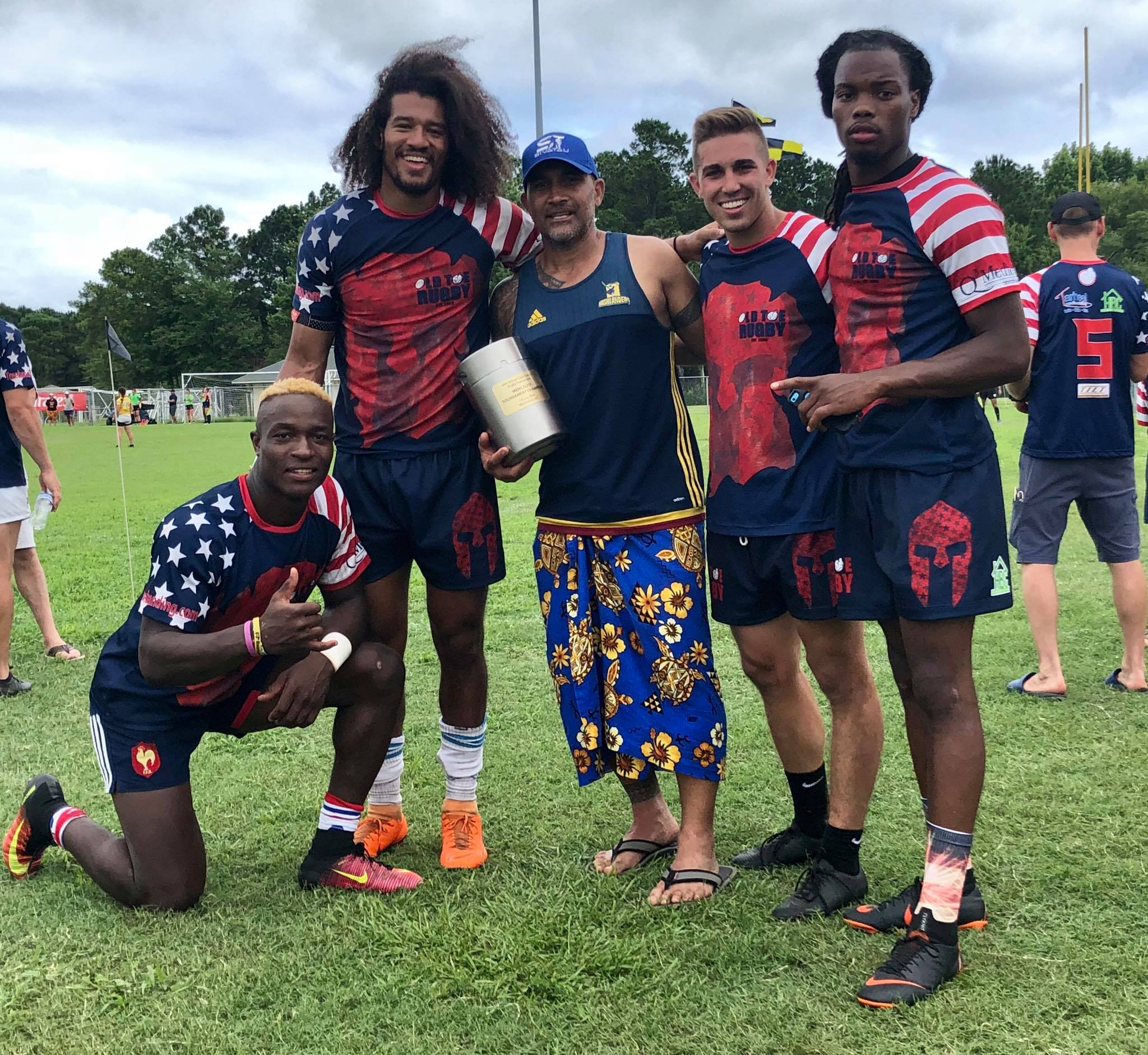 CoreyJonesRugby with team Old Toe- 2018 Cape Fear's Cup Champs