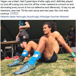 Corey Jones Rugby-Las  Vegas 2016