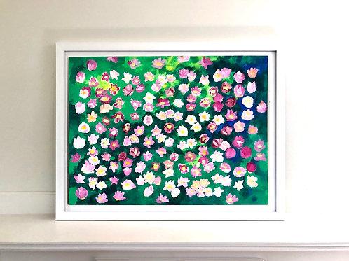 A garden of tulips 2 (acrylic, unframed)