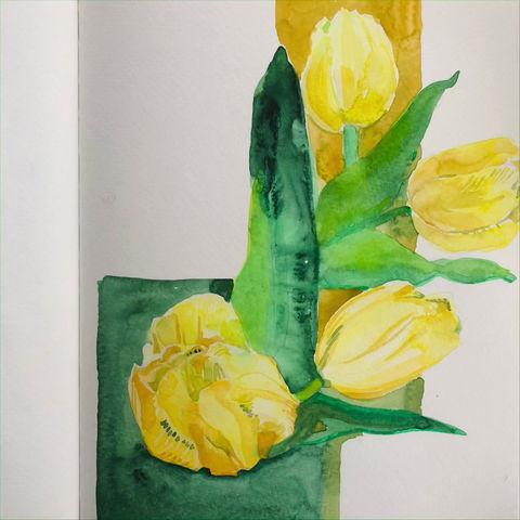 Tulip painting tutorial