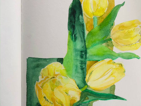 Tulip painting tutorial