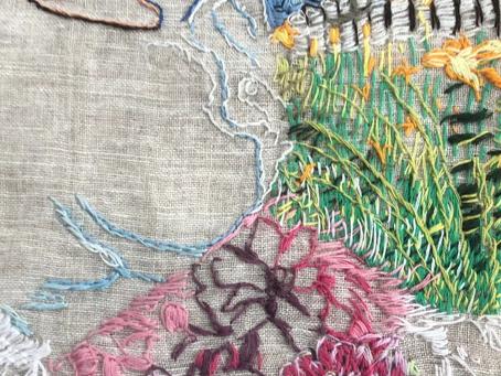 Self portrait embroidery