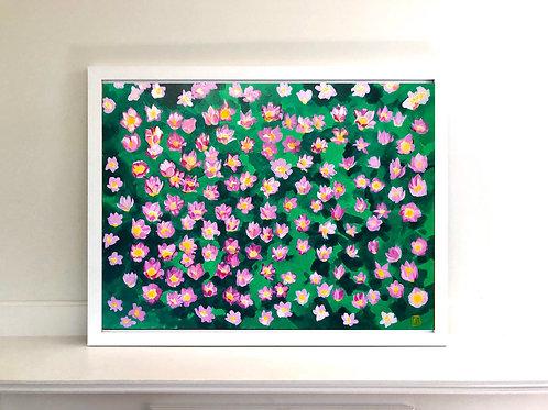 A garden of tulips 1 (acrylic, unframed)