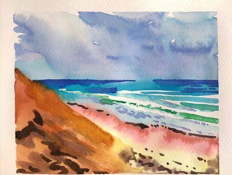 Wellfleet, MA watercolor tutorial