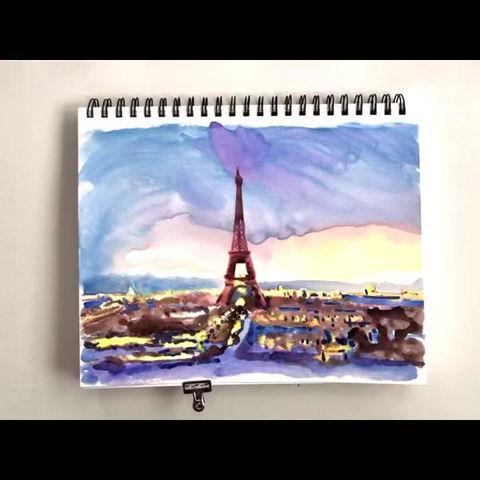 Peindre la Tour Eiffel en Français