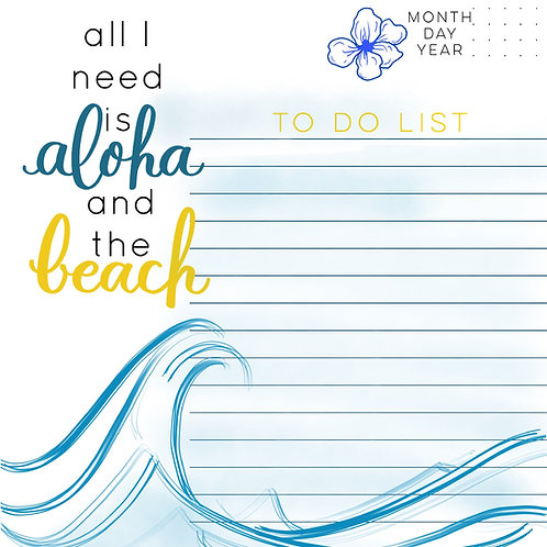 All I Need is Aloha and the Beach Planner