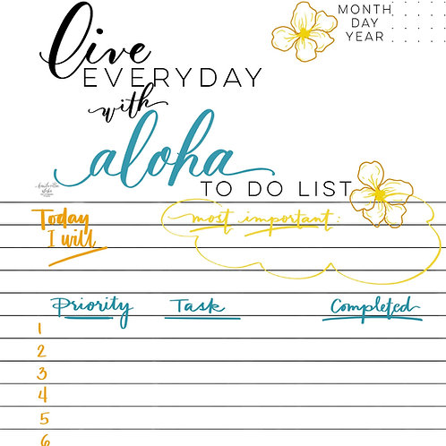 Live Every Day with Aloha Planner
