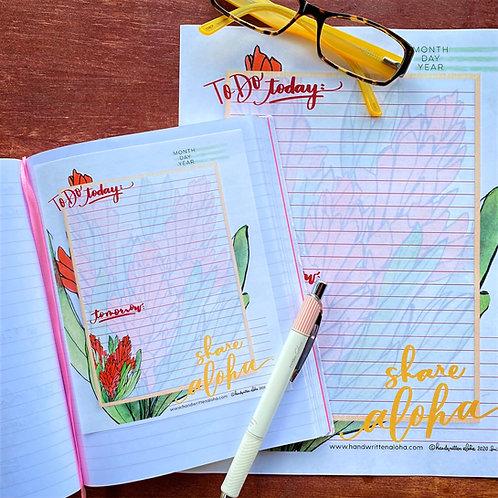 Share Aloha Red Ginger Planner