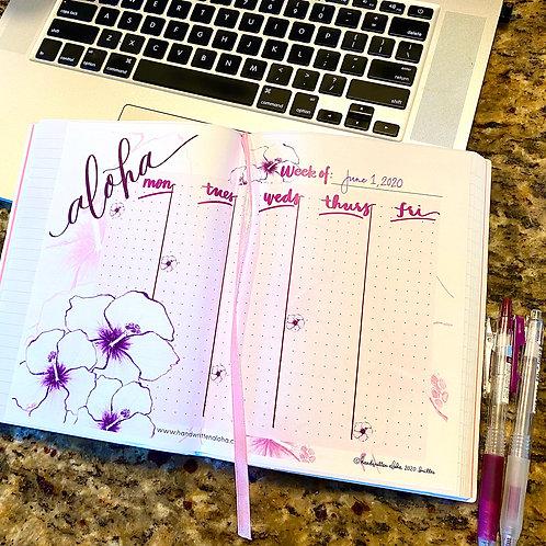 Hibiscus Aloha Weekly Planner