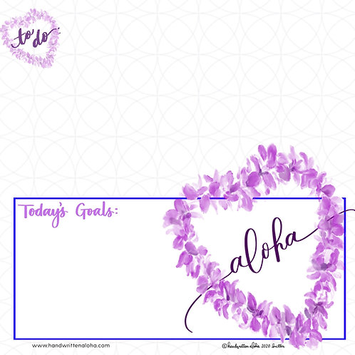 Orchid Lei Aloha Planner