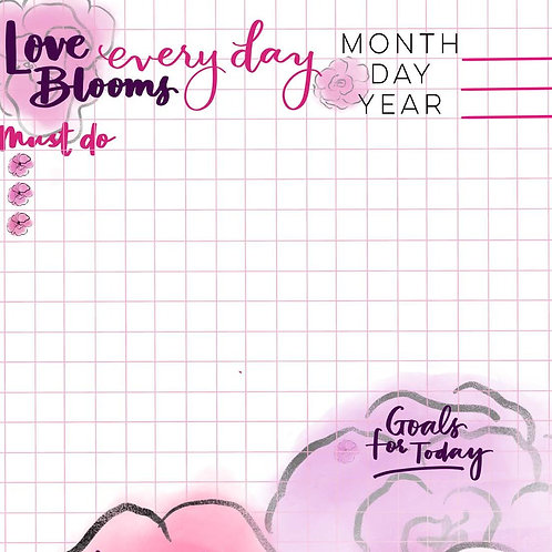Love Blooms Every Day Planner