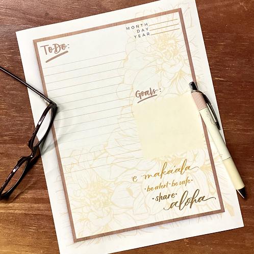 Golden E Maka'ala Share Aloha Planner