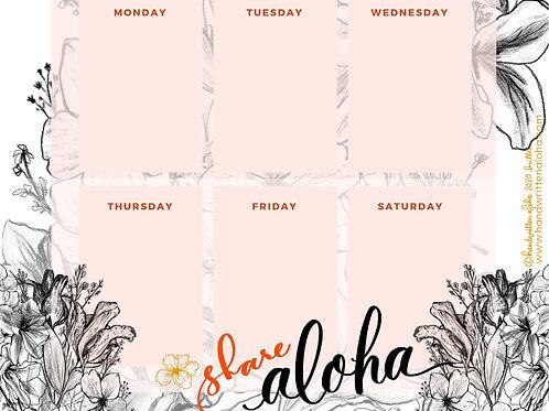 Share Aloha Weekly Planner