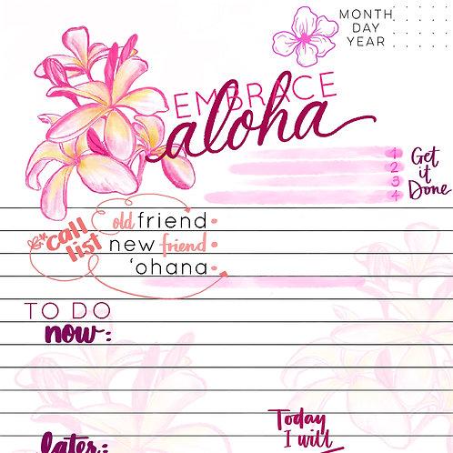 Embrace Aloha Day Planner