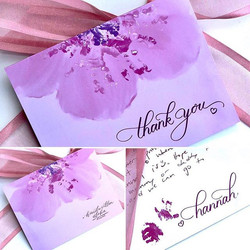 Received the thank you card that I desig