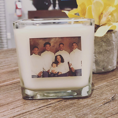 2 Wick Candle With Picture