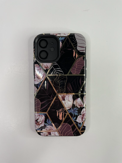 Black and Gold Floral iPhone Case | Samsung Case