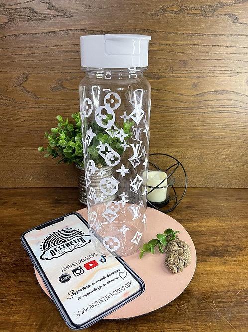 Designer Inspired Water Bottle | Personalized Aesthetic Acrylic